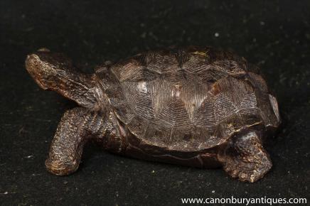 Bronze Tortoise Statue Casting English Turtle Figurine