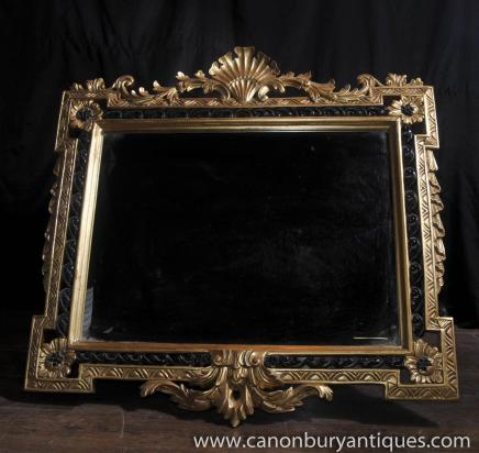 English Regency Rococo Gilt Pier Mirror Glass Mirrors