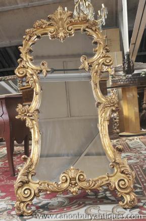 French Louis XV Rococo Pier Mirror Pier Mirrors