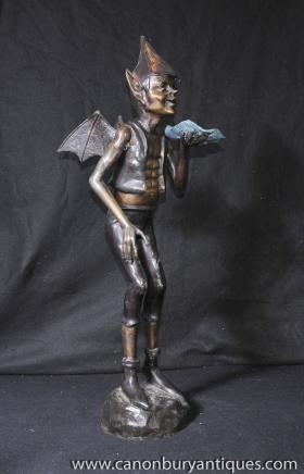 Large Bronze Pixie Statue Casting Fairey Elph Celtic Pixies