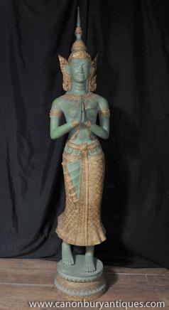 Tall Bronze Nepalese Buddha Statue Buddhism Buddhist