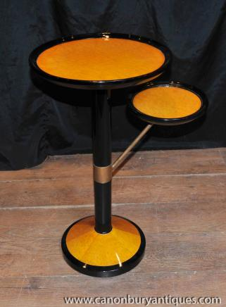 Art Deco Tiered Side Table Occasional Tables Biedermeier