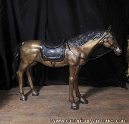 Lifesize French Bronze Pony Horse Colt Statue Casting