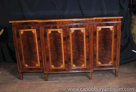 Regency Flame Mahogany Sideboard Server Buffet Saintwood Banding