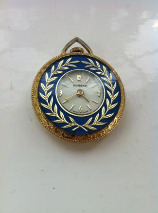 Retro Swissam Ladies Pocket Watch Pendant