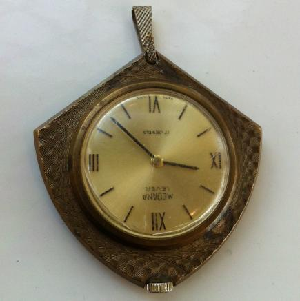 Vintage Swiss 'Medana Lever' Pocket Watch Pendant