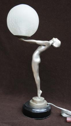 Bronze Art Deco Biba Figurine Statue