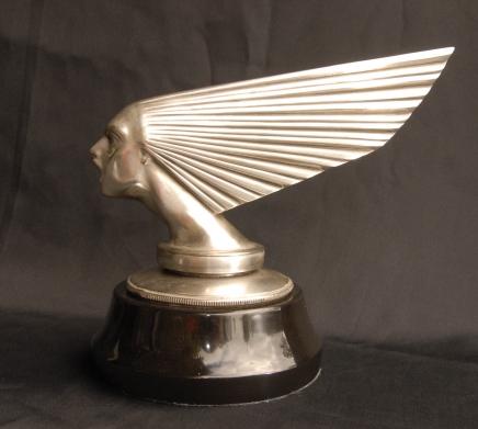 Silver Bronze Lalique Victoire Bust Art Deco