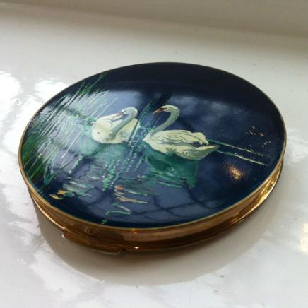 1950s Enamel Stratton of London Mirror Compact