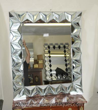 Art Deco Glass Pier Mirror Mantle Mirrors