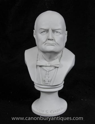 Bust Sir Winston Churchill British Prime Minster Bulldog