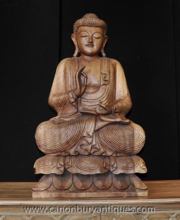 Hand Carved Burmese Buddha Statue Buddhist Buddhism Art