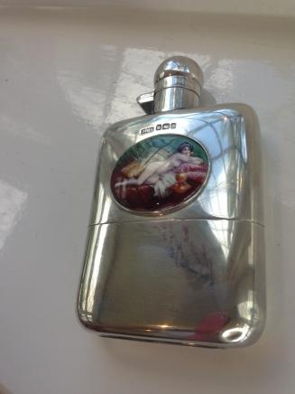 HMS Sheffield Silver Hip Flask
