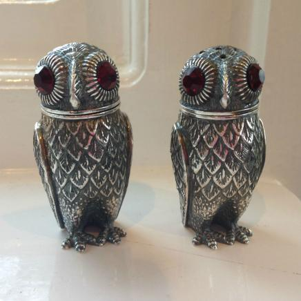 Pair Owl Salt & Pepper Shakers