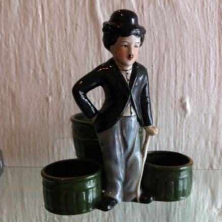 Porcelain Charlie Chaplin Stationary Organiser