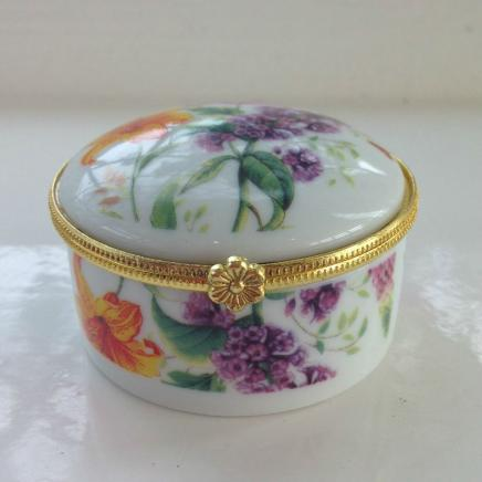 Porcelain Keepsake Summer Flower Trinket