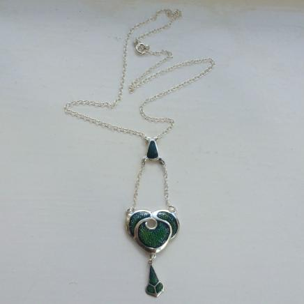 Sterling Silver & Enamel Necklace