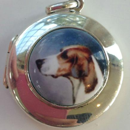 Sterling Silver English Gun Dog Locket