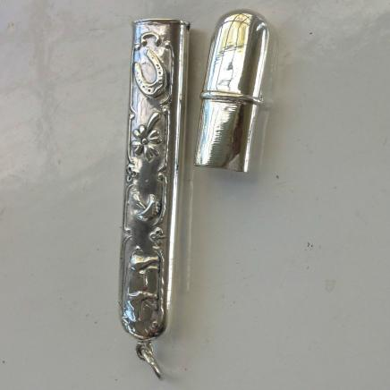 Sterling Silver Farmyard Theme Needle Thimble Holder
