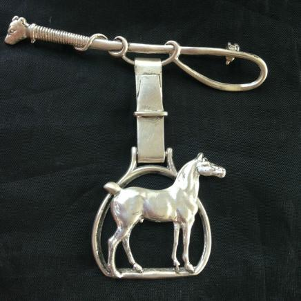 Sterling Silver Horse Show Pin