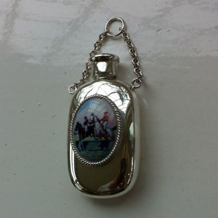 Sterling Silver Ladies Chatelaine Scent Bottle