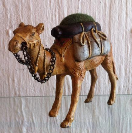 Vienna Cold Painted Bronze Camel Pin Cushion Marked Geshutz