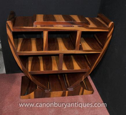 Art Deco Bookcase Walnut Shelf Unit 1920s Furniture