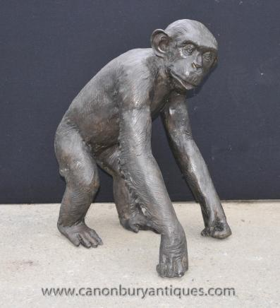 Bronze Monkey Statue Casting Animals Apes Primate