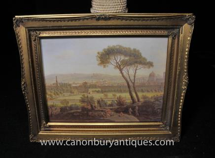 Italian Oil Painting Tuscan Landscape Pastoral Art