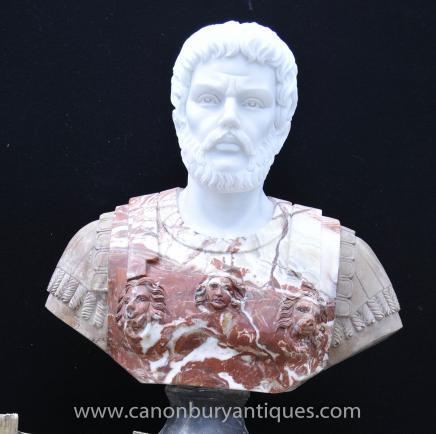 Large Italian Bust Roman Emperor Antoninus Pius Statue Carved
