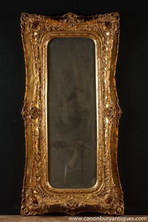 Large Victorian Gilt Pier Mantle Mirror Mirrors