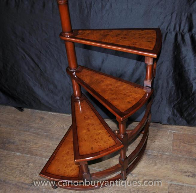 Victorian Library Ladder Step Ladders Walnut Stair