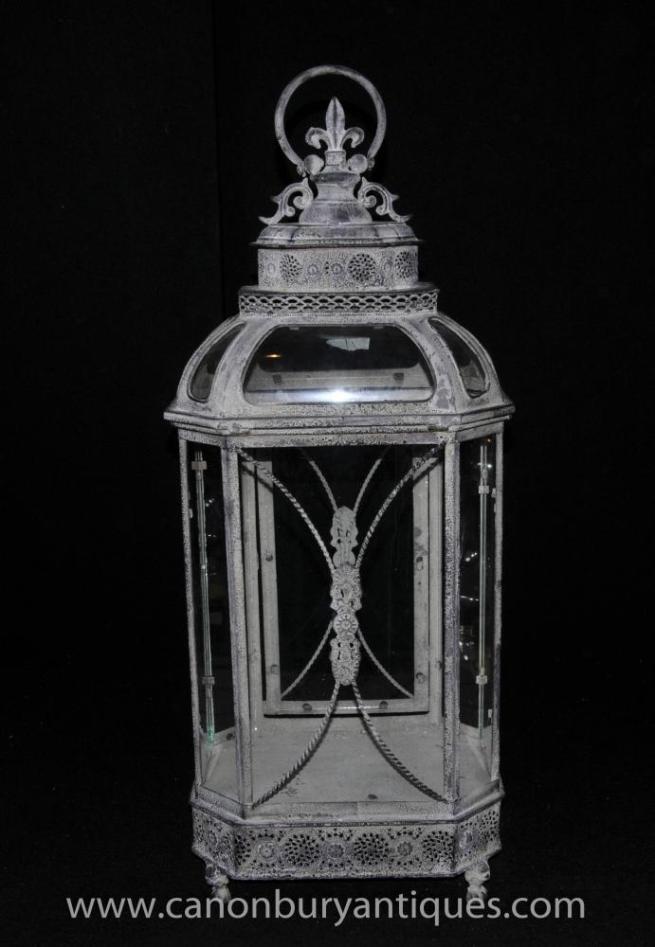 English Victorian Lantern Light Glass Case