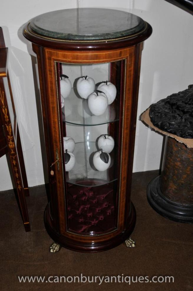 French Empire Glass Display Cabinet Jewellery Case Bijouterie