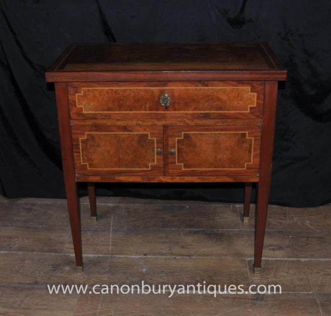 French Regency Chest Drawers Cabinet Walnut Furniture