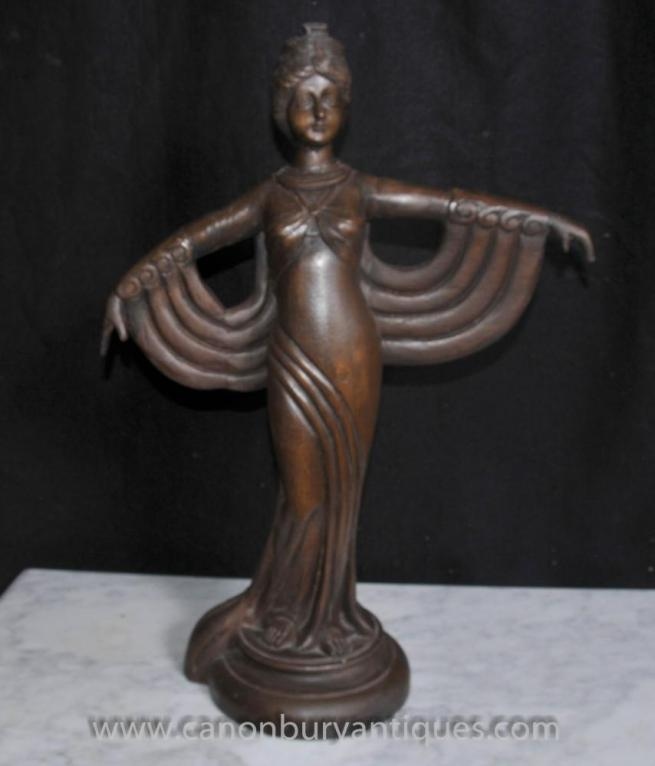 Hand Carved French Art Deco Figurine Statue