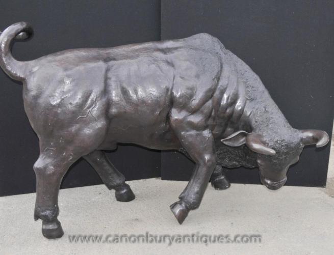 Large Bronze Bull Statue Cow Bulls Bullock