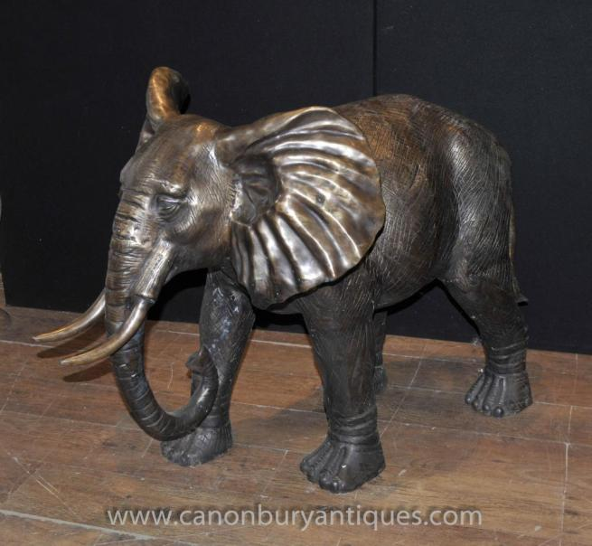 Large Bronze Elephant Statue Architectural Garden Art