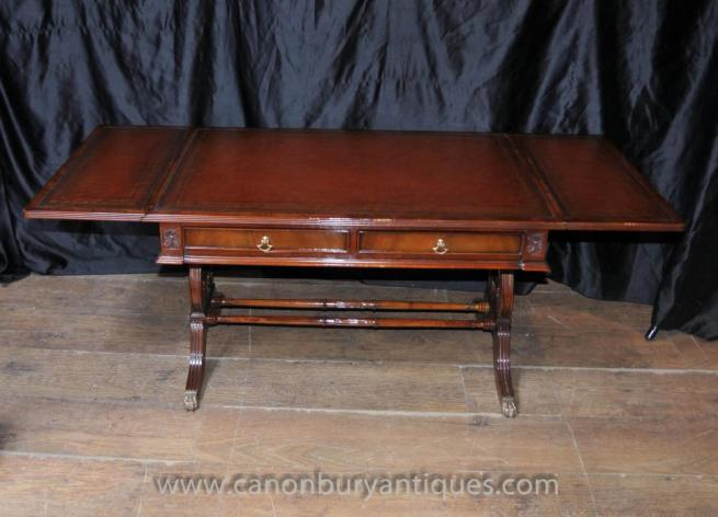 Mahogany Regency Coffee Table Extending Tables Desk