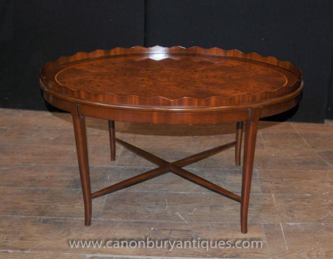 Walnut Regency Coffee Table Side Tables