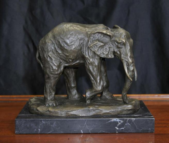Bronze African Elephant Statue Animals Castings Elephants Tribal Art