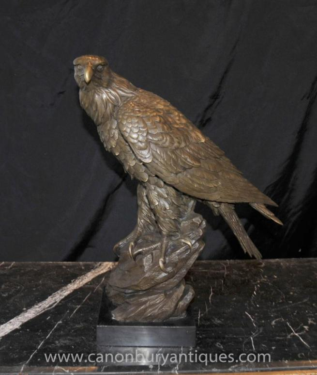 Bronze Golden Eagle Statue Birds Bird Prey Casting