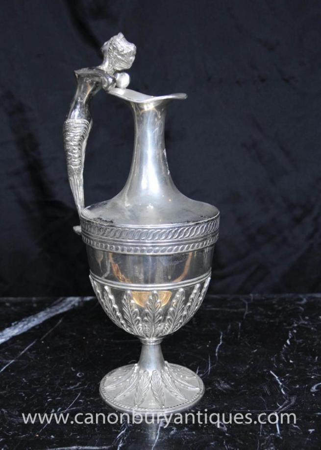 Classic Georgian Silver Plate Etruscan Jug Ewer