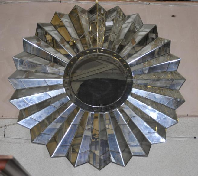 French Art Deco Star Burst Mirror Glass Mirrors