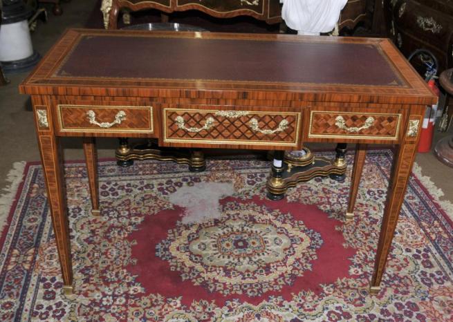 French Empire Dummy Partners Desk Writing Table Bureau Plat