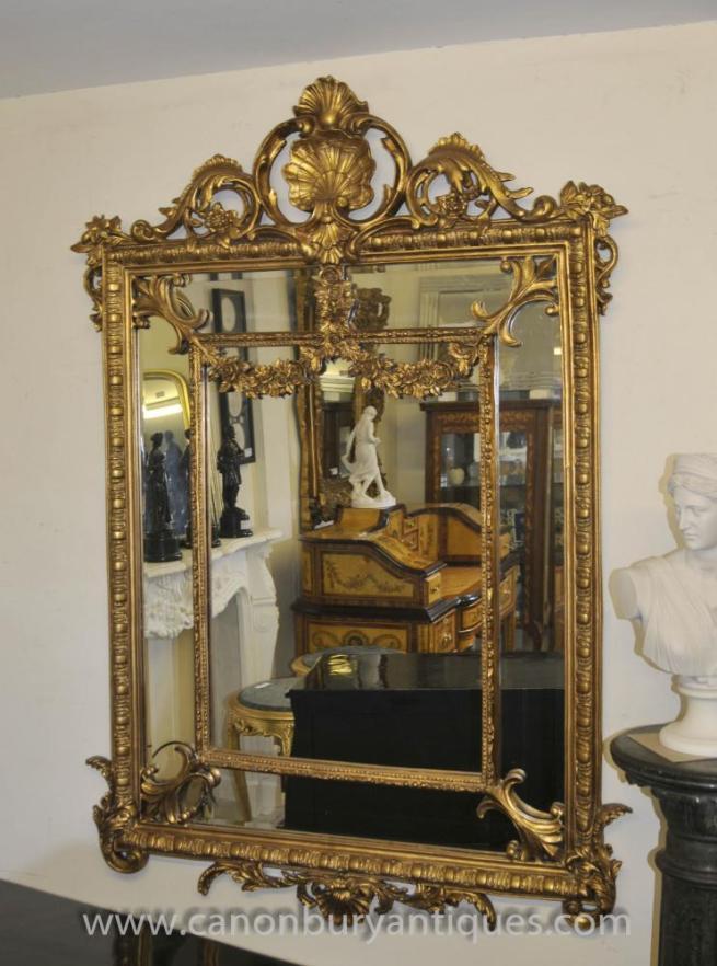 French Louis XV Rococo Mirror Gilt Mirrors