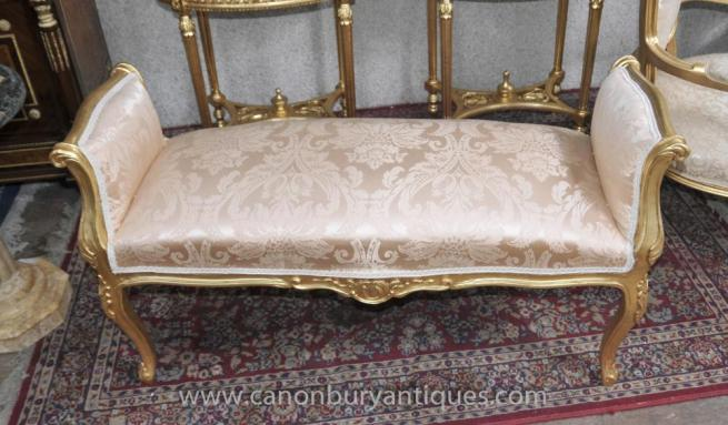Louis XV Gilt Stool Seat French Furniture Interiors