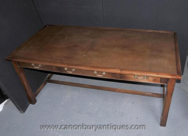 Oak Desk Writing Table Bureau Plat Farmhouse Kitchen Refectory Tables