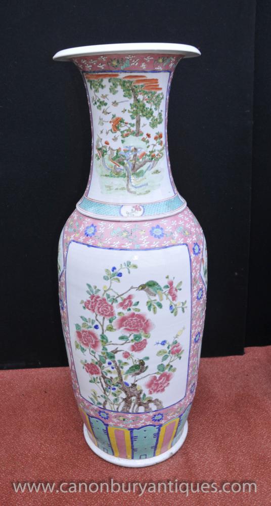 Tall Chinese Jingdezhen Porcelain Urn Ming Ceramic Vases China
