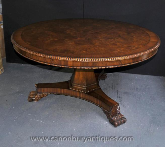 Victorian Centre Table Round Dining Tables Walnut Center
